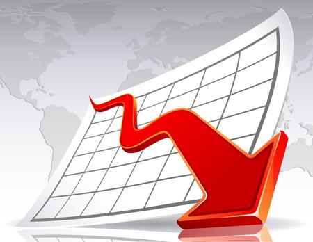 decline: illustration - Business crisis diagram Illustration