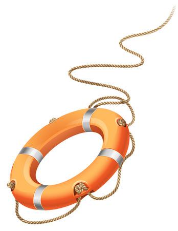 buoy: illustration - rescue life belt