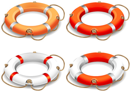 illustration - rescue life belt icons 矢量图像