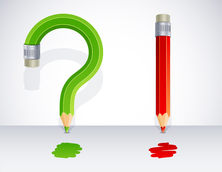 punctuation mark: illustration - exclamation and question marks Illustration
