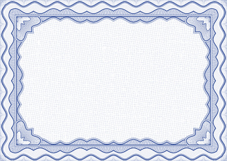 Vector illustration - blue certificate template