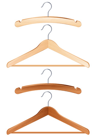 Vector illustration - isolated clothing hangers