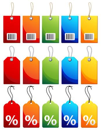 balise: Vector illustration - jeu d'ic? color?label