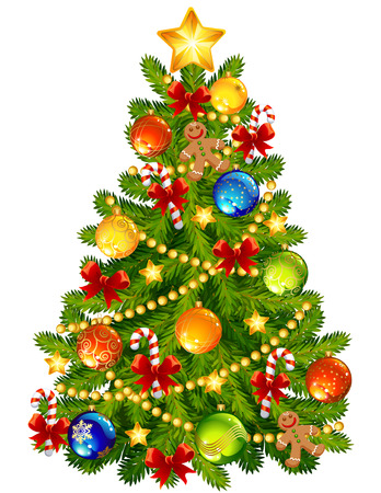 ベクトル イラスト - クリスマス ツリー  イラスト・ベクター素材