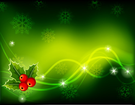 illustration - green Christmas background
