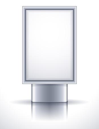 illustration - blank steel billboard Stock Vector - 8162798