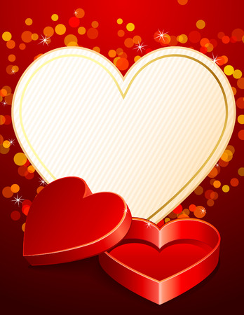 Vector illustration - Valentines day background with gift box Vector