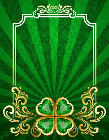irland�s: Ilustraci�n vectorial - fondo de San Patricio con shamrock