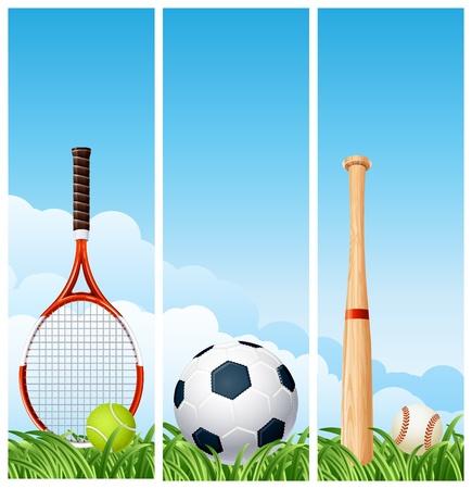 illustration - Sports banners