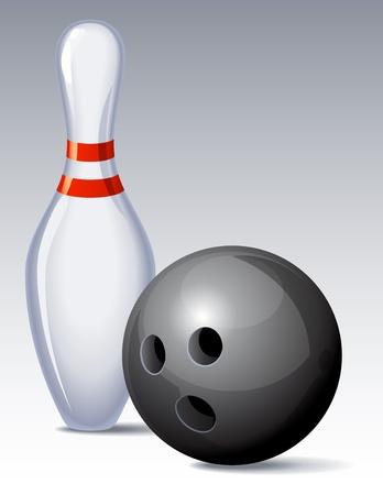 Vector illustration - bowling pin and ball Stock Vector - 10284719