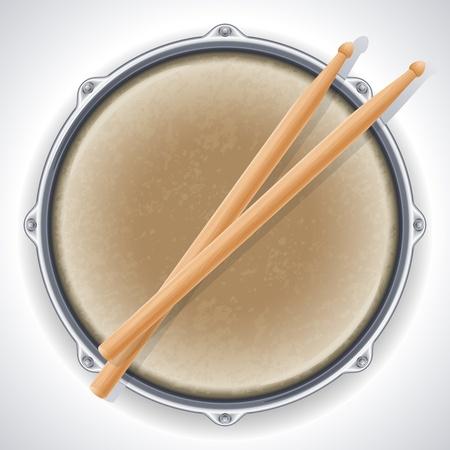 tambor: tambor y baquetas
