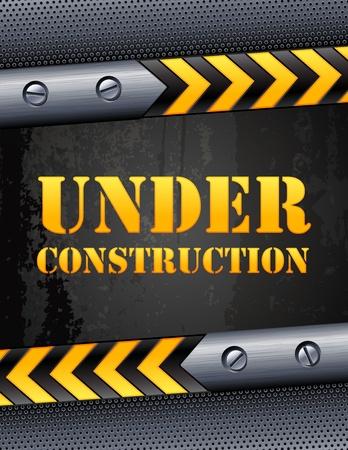 metal construction: Vector illustration - Under construction background Illustration
