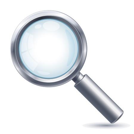 Ilustración vectorial - lente de aumento