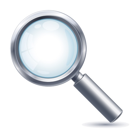 search: Vector illustration - magnifying lens