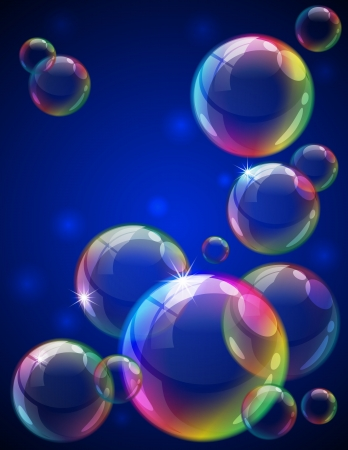 Vector illustration - soap bubbles background. Eps10 vector file, contains transparent objects and opacity mask. Stock Vector - 13545902