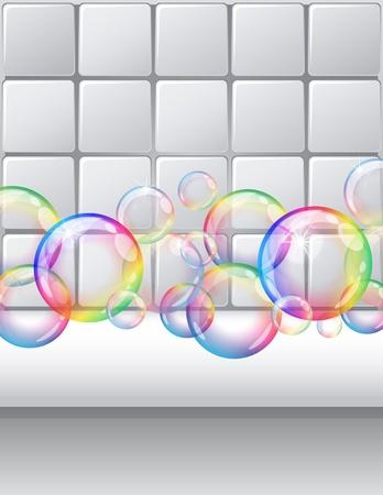 ベクトル イラスト - 石鹸の泡の背景。Eps10 ベクトル ファイルには、透明なオブジェクトと不透明度マスクが含まれます。  イラスト・ベクター素材