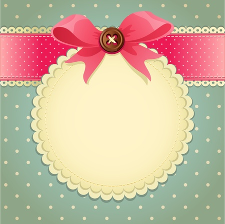 Vector illustration -  vintage scrapbook background Vector