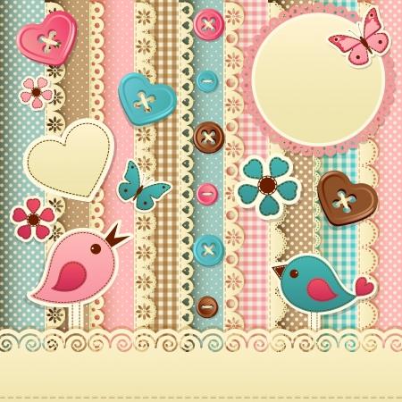 Vector illustration - vintage scrapbook background, eps10 Stock Vector - 14407748