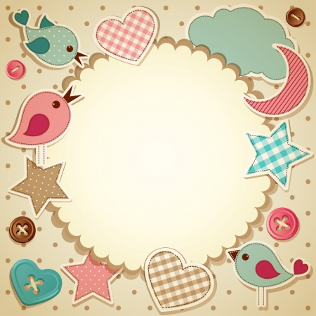 Vector illustration -   scrapbook background, eps10 Illustration