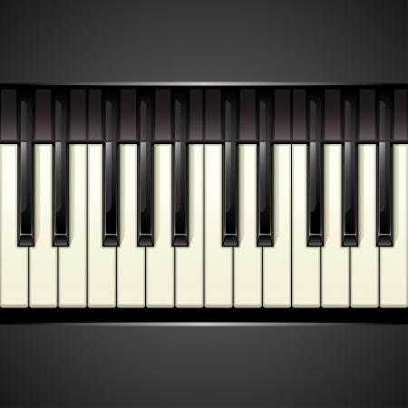 teclado de piano: la llave del piano de fondo Vectores