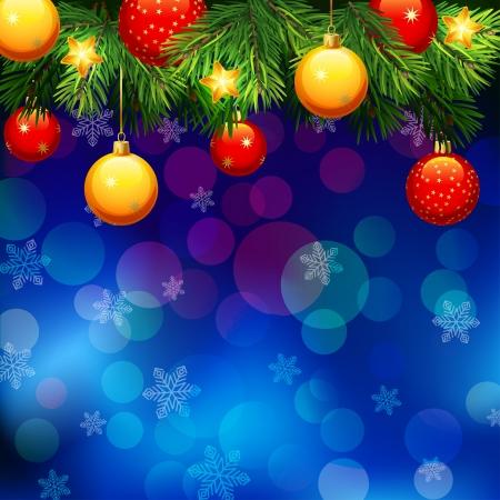 christmas deco: De fondo de Navidad Vectores
