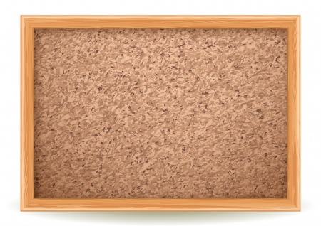 Vector illustration - corkboard on white, EPS 10, RGB Use transparency and blend modes