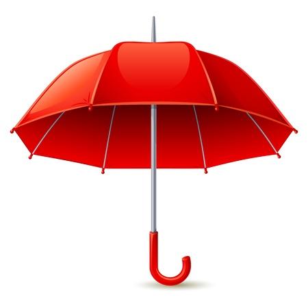 ベクトル イラスト - 赤白傘  イラスト・ベクター素材