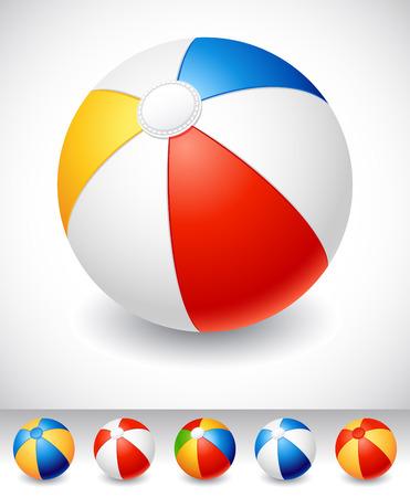 red ball: Beach balls on white