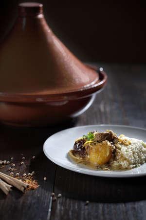 couscous: Moroccan Lamb stew - tajine