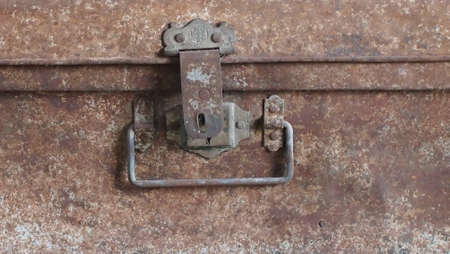coffer: the rust hasp Stock Photo