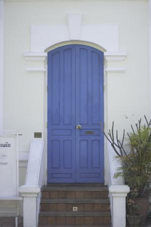 blue door: Blue door Stock Photo