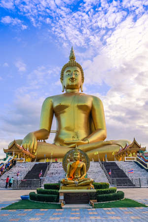 biggest: The Biggest Seated Buddha Image at Wat Muang Ang Thong, Thailand