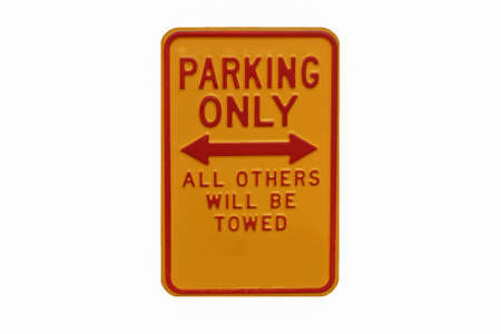 permit: A yellow sign reading Permit Parking Only