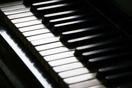 soft   focus: Close up of piano keyboard - Soft focus