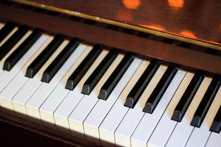 Piano keyboard - Soft focus Stock Photo