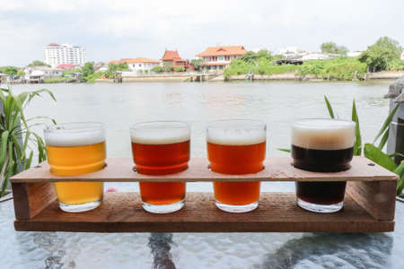 beers: Craft Beers in a Flight Ready for Tasting