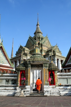 Wat Pho is located in Thailand Stock Photo