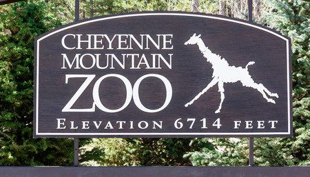 Cheyenne Mountain Zoo Sign, 14 March 2015 - The Zoo is located in Colorado Springs Colorado Editorial