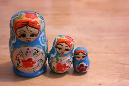Three Russian Nesting Doll