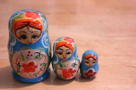 Trzy rosyjskie Nesting Doll