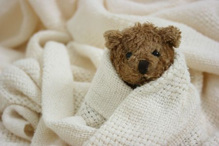Toy bear is sick Stock Photo
