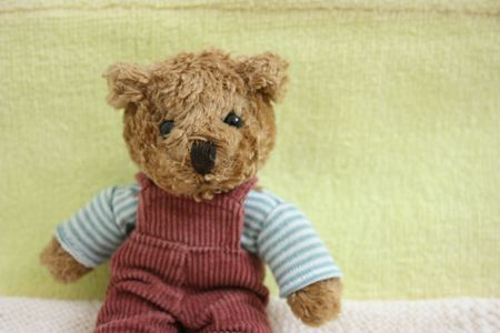 Toy bear posing in front of camera,close-up Stock Photo - 2553918