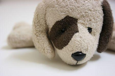 Nadziewane zabawkę pies, bliska