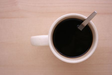 A cup of coffee, top view
