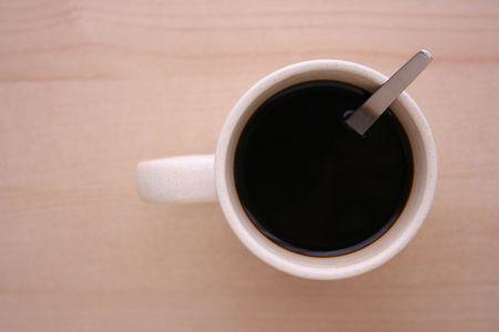 Filiżanka kawy, widok z góry