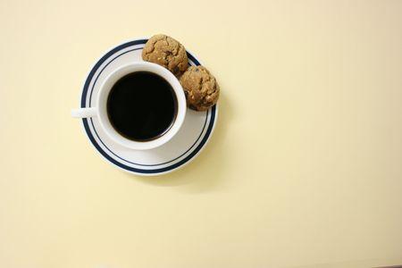 Kawy i ciasteczek, widok z góry