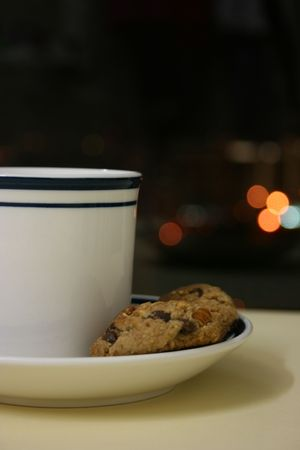 Time for a break,coffee and cookies photo