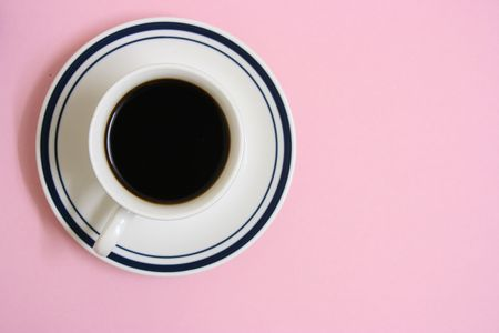 A cup of coffee,top view Stock Photo - 3408464