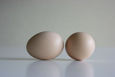 Two eggs,close up