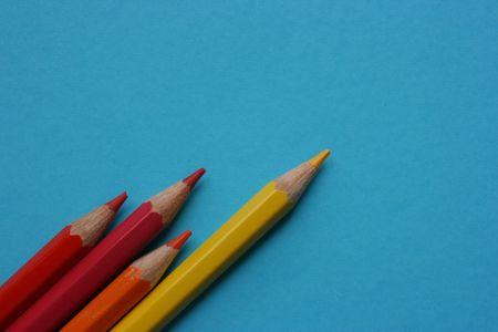Kolor ołówki wskazujące na Zdjęcie Seryjne